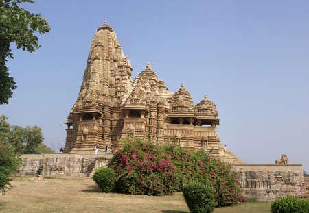 khajuraho: Kandariya Mahadeva Temple at  Khajuraho in  India, Asia