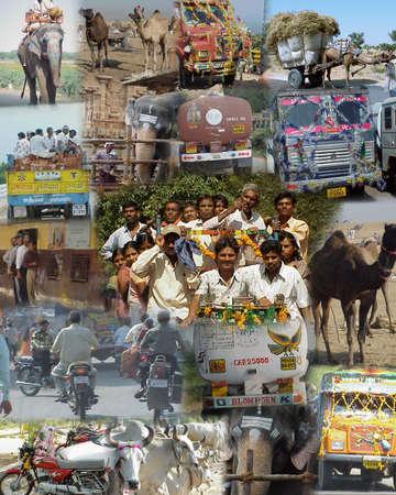 Mumbai India 2003 - Montage - India op de weg