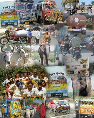 divali: MUMBAI INDIA 2003 - Montage -    India on the road