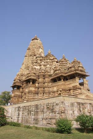 Exter decorations of the  Kandariya Mahadeva Temple at  Khajuraho in  India, Asia Stock Photo - 11663455