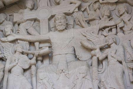 mannerism: Tympanum sculpture of the Last Judgment, Abbey Church of St. Pierre, Beaulieu sur Dordogne, France