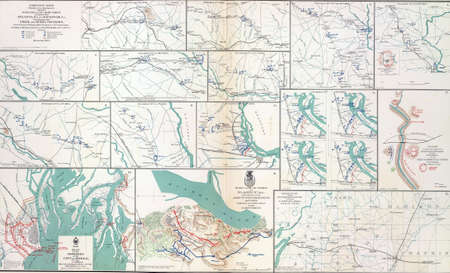 reb: Maps of Shermans Campaigns against Atlanta and Savannah, Georgia  from Atlas to Accompany the Official Records of the Union & Confederate Armies, 1861 - 1865
