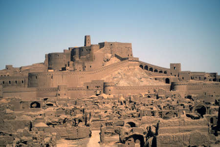 ramparts: Ramparts and buildings, medieval city and fortress,Bam, Iran, Middle East