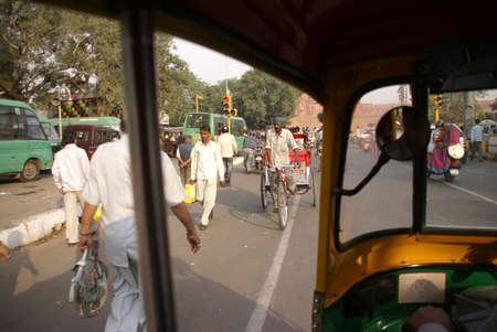 gridlock: OLD DELHI,INDIA - NOV 3 -Traffic inches forward near Chandi Chowk in Old Delhi, India on Nov 3, 2009. Editorial