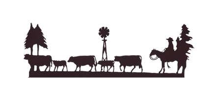 buckaroo: Buckaroos - cowboy  on his horse, herding cattle, Western art, iron work,  Wyoming, Rocky Mountain west