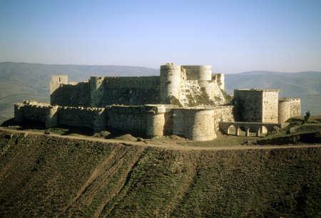 Krak des Chevaliers, het beroemdste kruisvaarderskasteel, Syrië Redactioneel