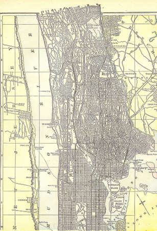 bronx county: Vintage 1891 map of the Bronx; out of copyright From old Atlas of the World