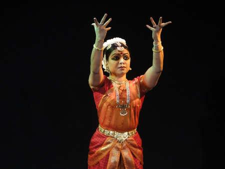 indian classical dance: KHAJURAHO, INDIA - NOV 4 -  Indian dancer performs classical dance  on Nov 4, 2009  in Khajuraho, India.    Editorial