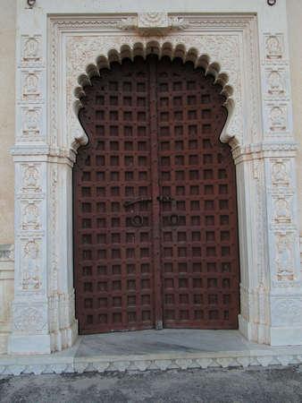 rajput: Details, old door of  Kumbhalgarh Fort in  Rajasthan,  India, Asia    Stock Photo