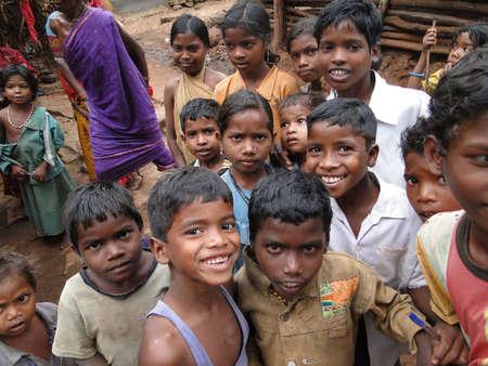 ethnic children: ORISSA,  INDIA - NOV 12 -Bonda tribal women shop   in the weekly market on Nov 12, 2009 in Ankadeli, Orissa in India