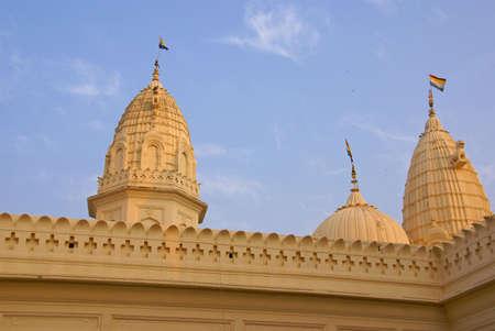 khajuraho: Shikara decorations on the  Shri Santinath, Jain Temple Khajuraho,  India