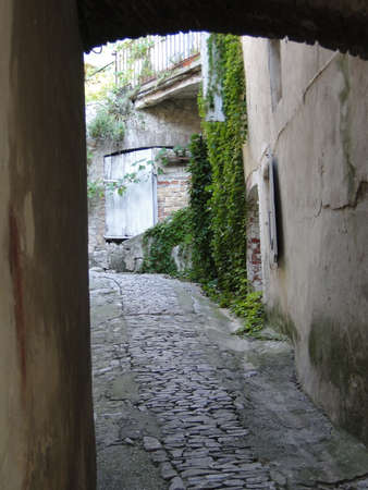 passageways: Narrow stone passageways  in the medieval village of Seguret, France