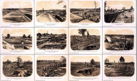 reb: Fortificaciones, la artiller�a y trincheras desde el sitio de Atlanta de 1864 de Atlas para acompa�ar a los Documentos Oficiales de la Uni�n y los ej�rcitos de la Confederaci�n, desde 1861 hasta 1865 Editorial
