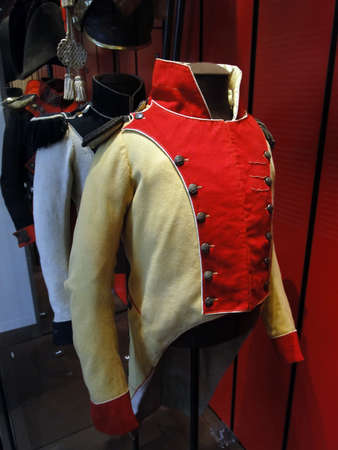 Uniforms of the French army,  from the 18th and 19th century, Museum of the Army, Les Invalides, Paris, France Stock Photo - 13413930