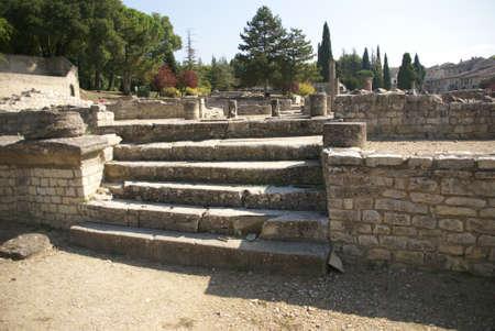 Ruins of Roman villas  in the Villasse Roman ruins, Vaison la Romaine, France.. Stock Photo - 13408039