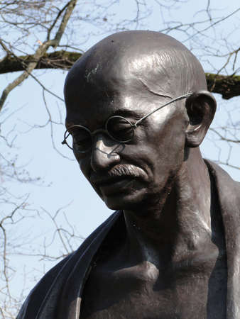 Statue of Mahatma Ghandi  in a park in Geneva, Switzerland