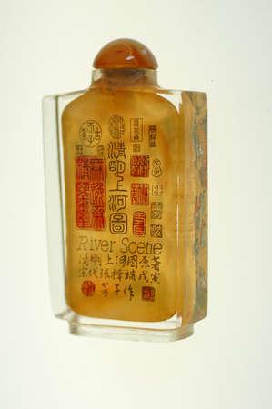 tabaco: Crystal tabaco dentro de las botellas con escenas en miniatura de los r�os de China
