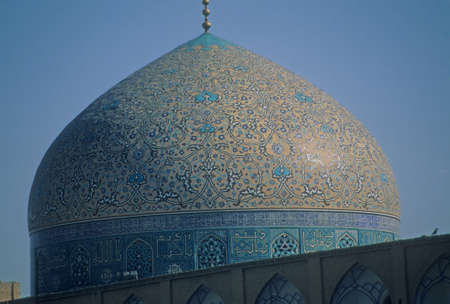Dome with Intricate Persian mosaics, Emam Mosque,Isfahan,Iran, Middle East