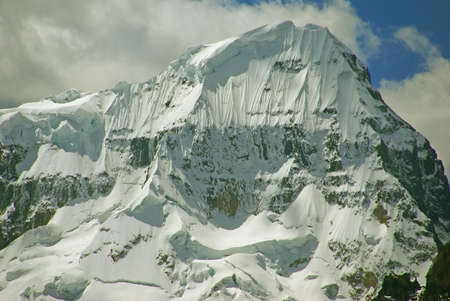 andes mountain: Steep snow faces on Andes mountain Stock Photo
