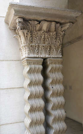 Detail medieval capitals carved columns Stock Photo - 15257407
