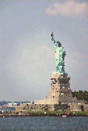 staten: Statue of Liberty, New York Harbor, from Staten Island Ferry,