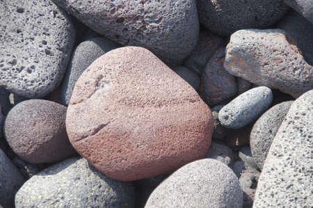 igneous: Lava rocks, rounded by the ocean at Napoopoo beach in  Kealakekua Bay State Historical Park Hawaii