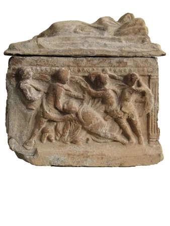 escultura romana: Detalle de la escultura romana antigua y la decoraci�n se encuentra en Avi��n, Francia