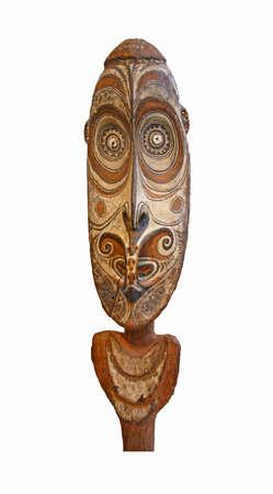 Papua New Guinea face mask, isolated on white   Stock Photo