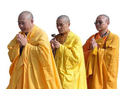 sarnath: SARNATH INDIA - 6 NOV 2009 - Japanese monks perform Buddhist rituals at Dharmeka Stupa at Sarnath,  India, on 6 Nov 2009.