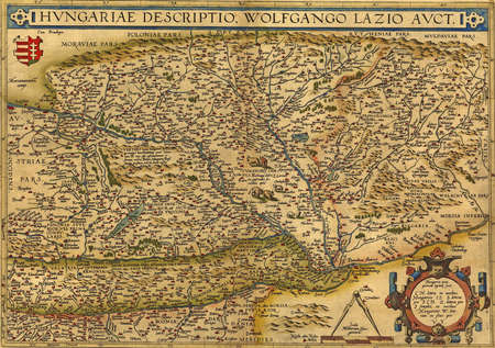 Antique Map of Hungary  by Abraham Ortelius, circa 1570