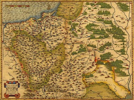 Antique Map of Poland and the Baltic Sea,  by Abraham Ortelius, circa 1570   Editöryel