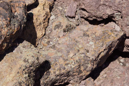 smith rock: Details of volcanic tufa rhyolite rocks,Smith Rock, Central Oregon   Stock Photo