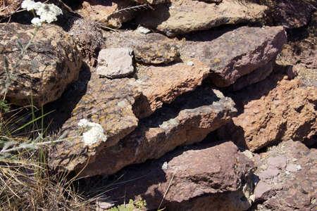 smith rock: Details of volcanic tufa rhyolite rocks,Smith Rock, Central Oregon