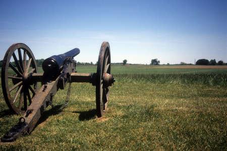 civil war: Napoleon, 12 lb cannon, Confederate lines, Civil War battlefield,Gettysburg National Battlefield Park,Pennsylvania