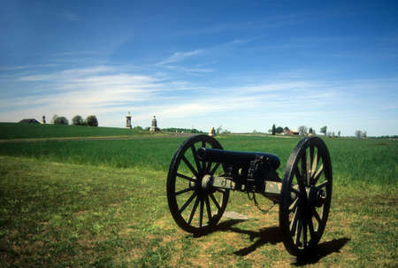 civil war: Napoleon, 12 lb cannon, near Peach Orchard, Gettysburg National Historical Battlefield,Pennsylvania,