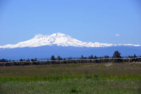 oregon cascades: North and Middle Sister, volcano of the Oregon Cascades range,near Redmond, Oregon
