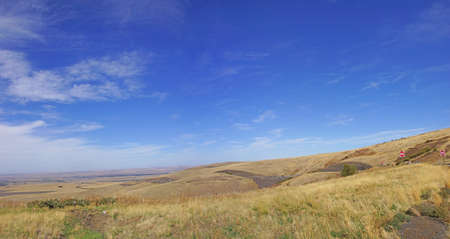 deadman: Blue sky and rolling hills  near Deadman Pass, Pendleton, Oregon
