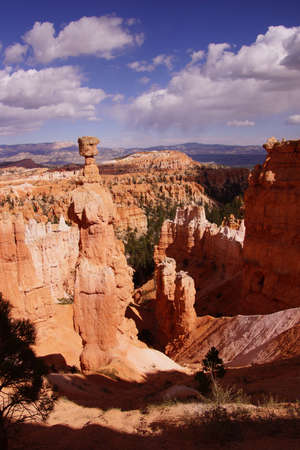 Thors Hammer, balanced rock hoodoo of eroded sandstone pinnacle,Bryce Canyon National Park, Utah   photo