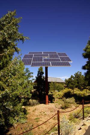 south rim: Solar panels at the Visitors Center of the South Rim, Grand Canyon National Park, Arizona  Stock Photo