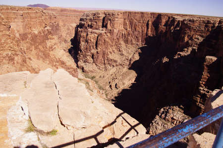 stark: Stark dark colors of the rim of the Little Grand Canyon of the Colorado River, Arizona   Stock Photo