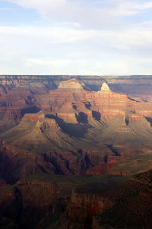 south rim: Near Maricopa Point, late afternoon view into the Colorado River gorge on the South Rim Trail,at the Grand Canyon National Park, Arizona   Stock Photo