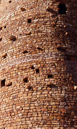 south rim: Watchtower of local stones,  Desert View, South Rim, Grand Canyon National Park, Arizona   Stock Photo