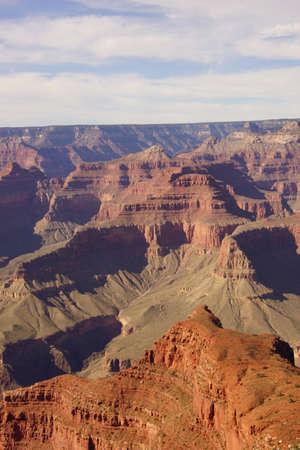 hopi: Tra Mohave Point e Hopi Point, vista nel tardo pomeriggio nella gola del fiume Colorado su Trail South Rim, al Parco Nazionale del Grand Canyon, Arizona