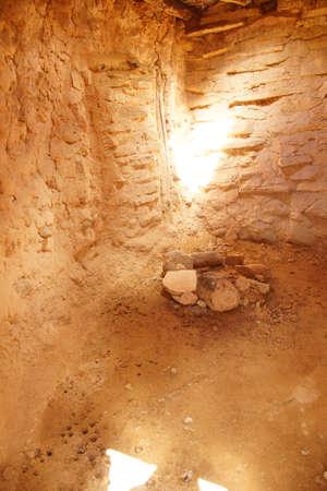 anasazi: Interior of Anasazi Pueblo Stock Photo