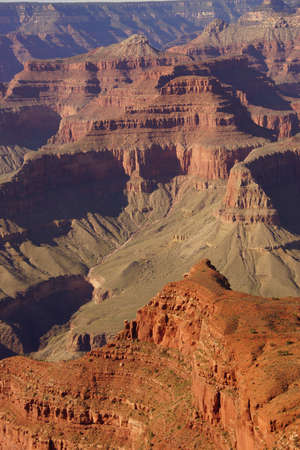 hopi: Between Mohave Point and Hopi Point , late afternoon view into the Colorado River gorge on the South Rim Trail,at the Grand Canyon National Park, Arizona
