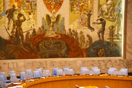 the council: Security Council chamber  United Nations Headquarters, New York City