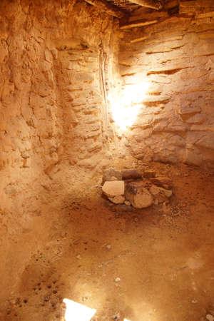 anasazi: Interior of Anasazi Pueblo,   circa1050 - 120 CE,  Anasazi State Park Museum,  , Boulder, Utah   Editorial