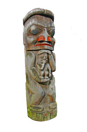 Totem poles of the Pacific Northwest first peoples, Victoria, BC, Canada photo