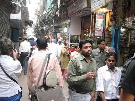 gridlock: OLD DELHI,INDIA - NOV 3 -Traffic inches forward near Chandi Chowk  on Nov 3, 2009 in Old Delhi, India                   Editorial