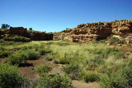 anasazi: Ruins of houses of the  Lomaki Pueblo, Wupatki National Monument, Arizona
